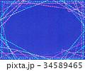 水彩テクスチャー 刺繍 フレーム 34589465