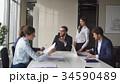 Creative business team meeting in modern start up 34590489