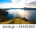 摩周湖 秋 湖の写真 34592860