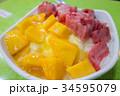 夏の料理・台湾スイーツイメージ~ マンゴーかき氷~ 34595079