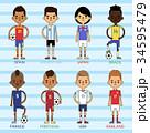 ベクトル サッカー チームのイラスト 34595479