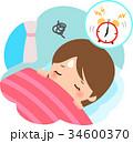 朝起きるのが辛い女性 34600370
