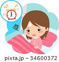 疲れた表情で起床する女性 34600372