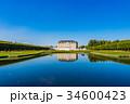 ブリュールのアウグストゥスブルク城と別邸ファルケンルスト 青空 世界遺産の写真 34600423