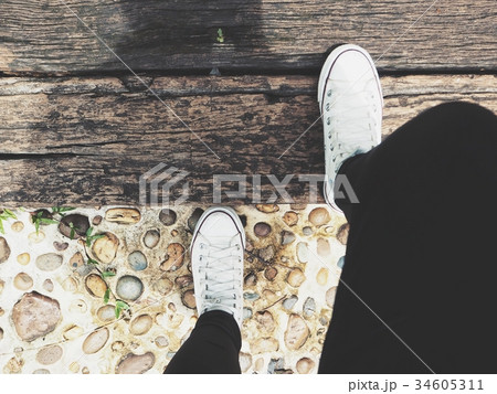 Selfie of sneakersの写真素材 [34605311] - PIXTA