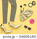Fashion Stylish Set. Design Outfit. Cosmetic 34606160