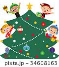 子供達 クリスマス プレゼントのイラスト 34608163