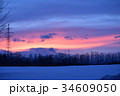 夕焼け空と電波塔 34609050