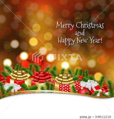 Holiday xmas gift border 34611210 pixta holiday xmas gift border negle Choice Image