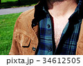男性のセクシーな胸毛 34612505