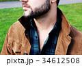 男性のセクシーな髭と胸毛 34612508