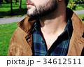 男性のセクシーな髭と胸毛 34612511