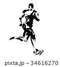 マラソンランナー 34616270