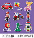 Sticker design for many toys 34616984