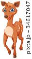 動物 キャラクター 文字のイラスト 34617047