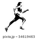 女性ランナー 34619463