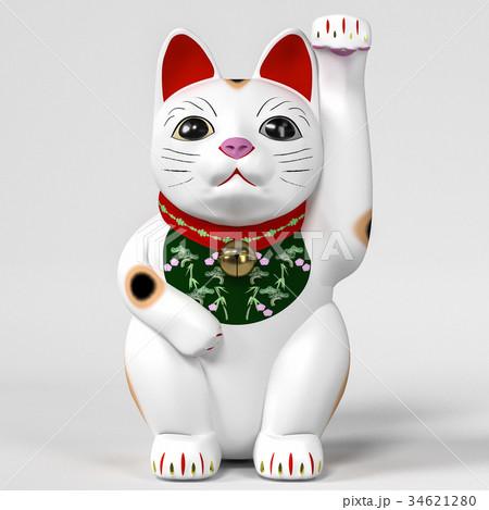 招き猫三毛 34621280