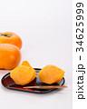 柿 果物 秋の味覚の写真 34625999