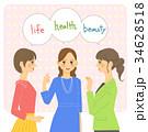 話をする女性(文字あり) 34628518