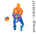 ボール 玉 球のイラスト 34636747