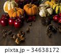 秋 かぼちゃ 林檎の写真 34638172