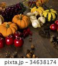 秋 かぼちゃ 林檎の写真 34638174