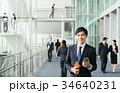 スマートフォン ビジネスマン ビジネスの写真 34640231