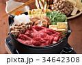 すき焼き 鍋 和食の写真 34642308