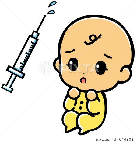赤ちゃんと注射 34644302