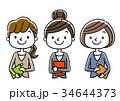 ビジネス 女性 ビジネスウーマンのイラスト 34644373