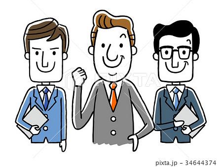 ビジネス:男性チーム 34644374