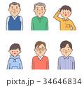 人物 男性 世代のイラスト 34646834