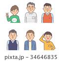 人物 男性 世代のイラスト 34646835