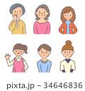 人物 世代 セットのイラスト 34646836