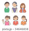 人物 世代 セットのイラスト 34646838