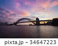 Sydney Harbour Bridge at sunset 34647223