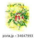 郊外の大きな牧場 34647993