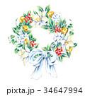 クリスマスリース 34647994