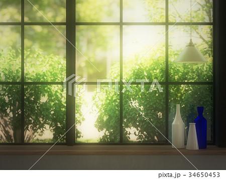 窓際の風景のイラスト素材 34650453 Pixta