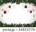 クリスマス 背景 ベクトルのイラスト 34653770