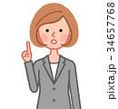 女性 人物 ジャケットのイラスト 34657768