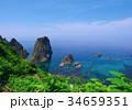 風景 島武意海岸 海の写真 34659351