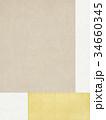 和紙-和柄-背景-金箔 34660345