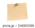 クラフト紙のメモ用紙 34660386