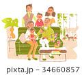 リビングでの家族 34660857