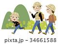トレッキング 家族 ハイキングのイラスト 34661588