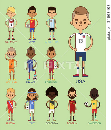 National Euro Cup soccer football teams vector 34663408