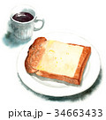 パン 朝食 食パンのイラスト 34663433