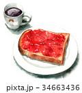 パン 朝食 食パンのイラスト 34663436