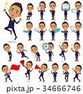 男性 人物 黒人のイラスト 34666746